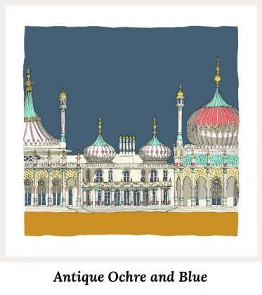 Antique Ochre and Blue - Art Prints by Colour by artist alej ez