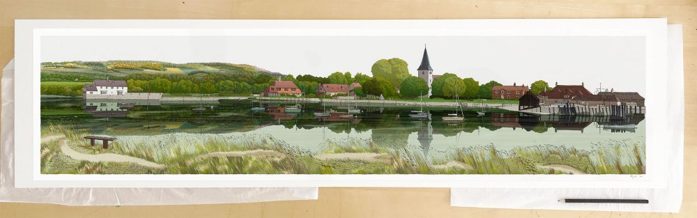 Fine art print by UK artist alej ez titled Bosham Harbour Chichester West Sussex
