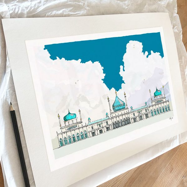 Fine art print by artist alej ez titled Brighton Pavilion Magic Lantern Slide