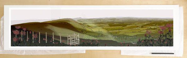 Fine art print by artist alej ez titled Devils Dyke Walk Season Fall