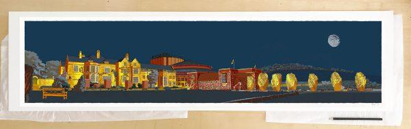 Fine art print by UK artist alej ez titled Glyndebourne Opera Golden Night