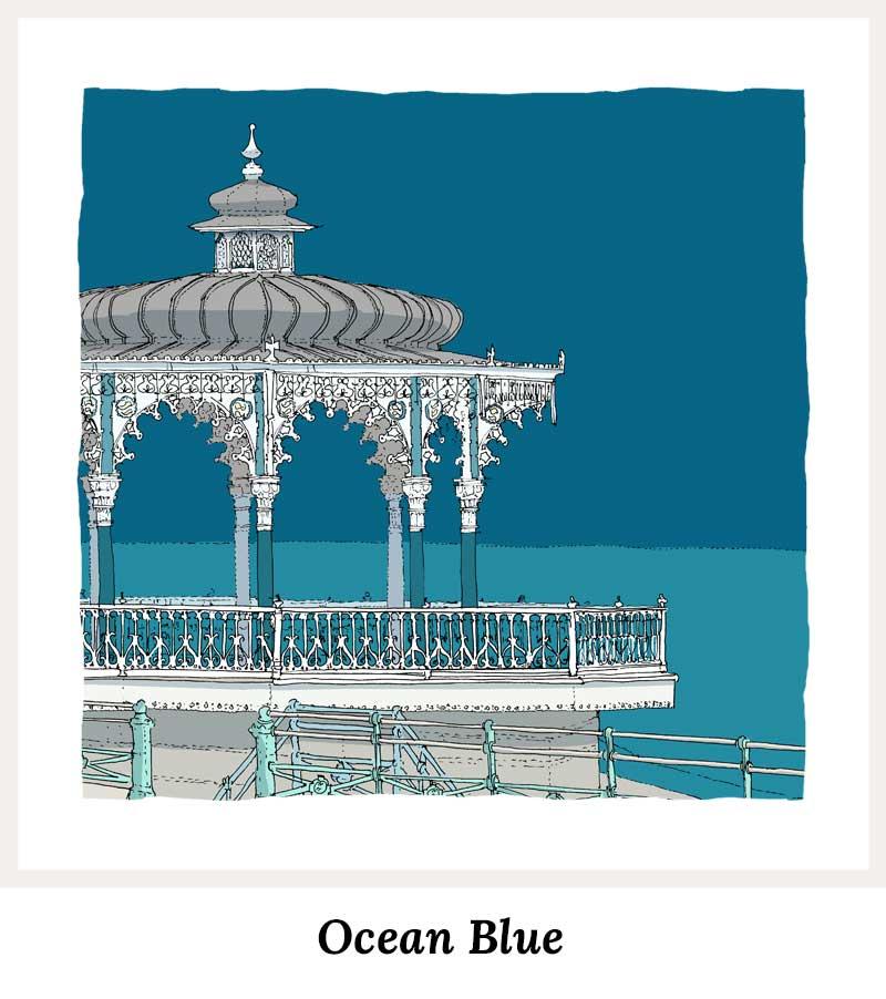Ocean Blue - Art Prints by Colour by artist alej ez