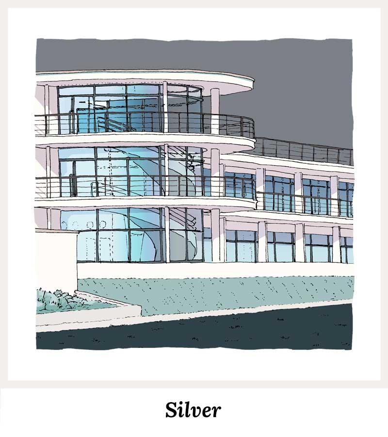 Silver - Art Prints by Colour by artist alej ez