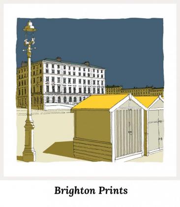 Art Prints by artist alej ez. Series Brighton Prints