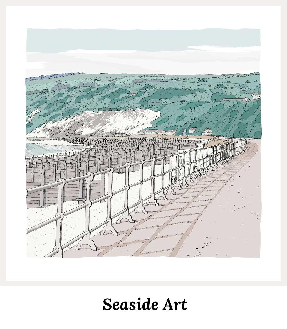 Art prints by artist alej ez. Series Seaside Art