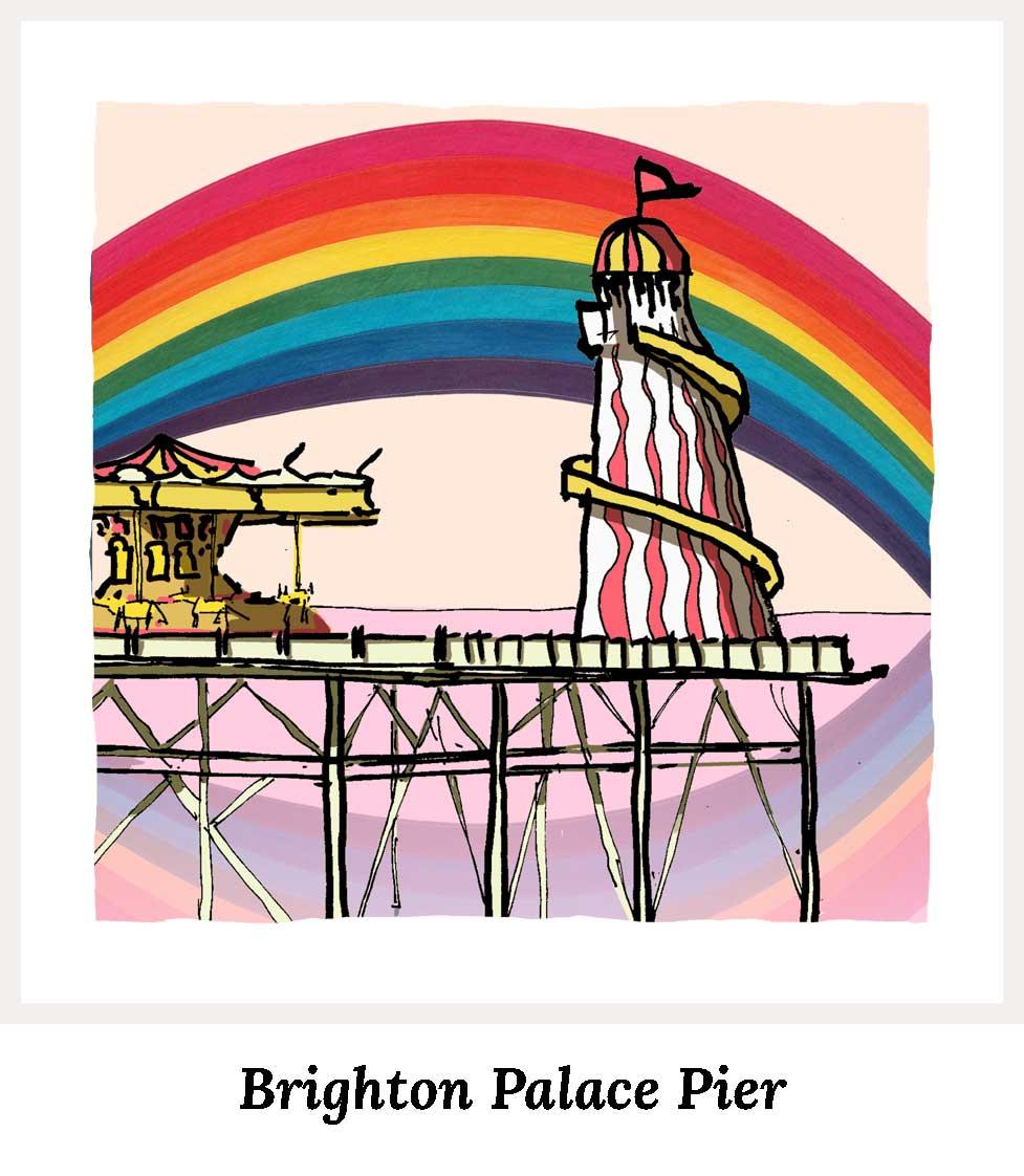Art prints by artist alej ez. Series Brighton Pier