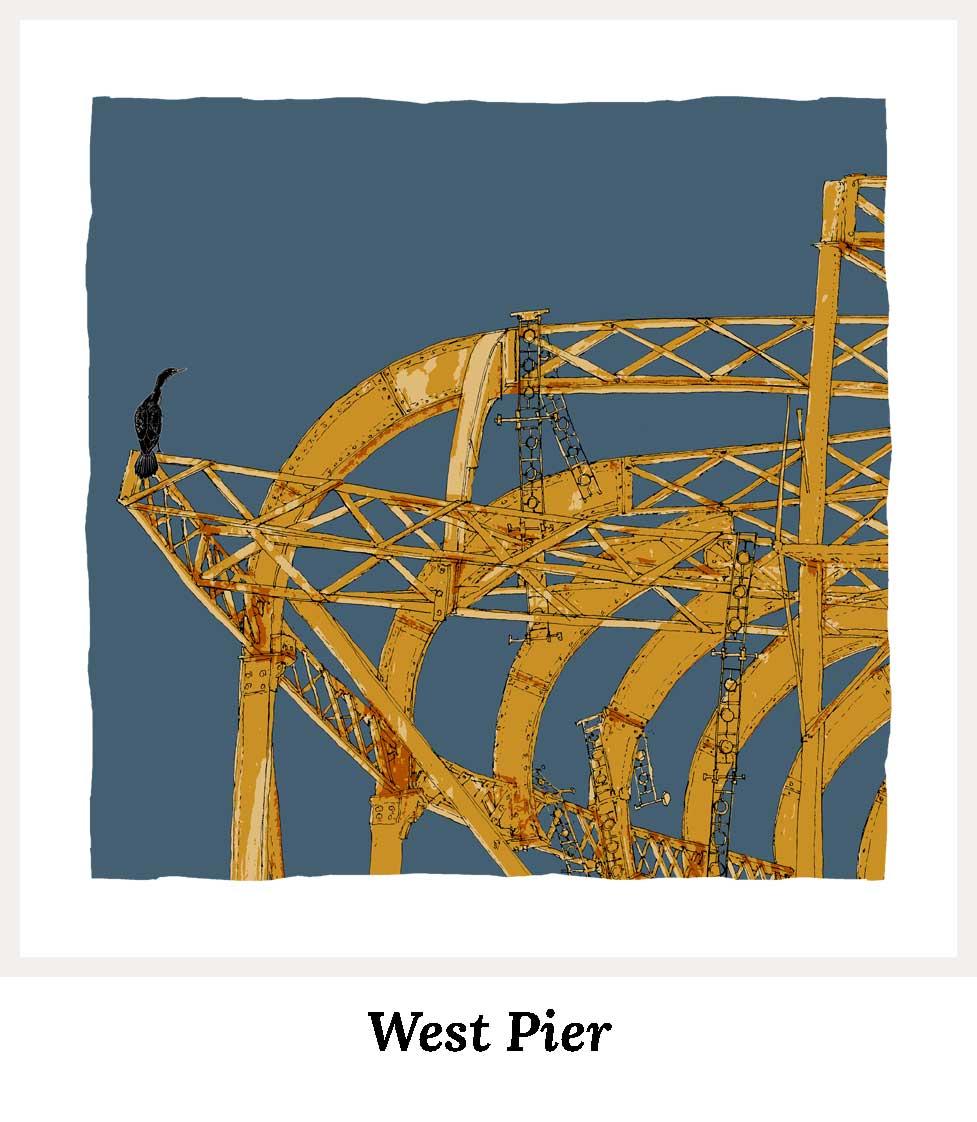 Art prints by artist alej ez. Series West Pier