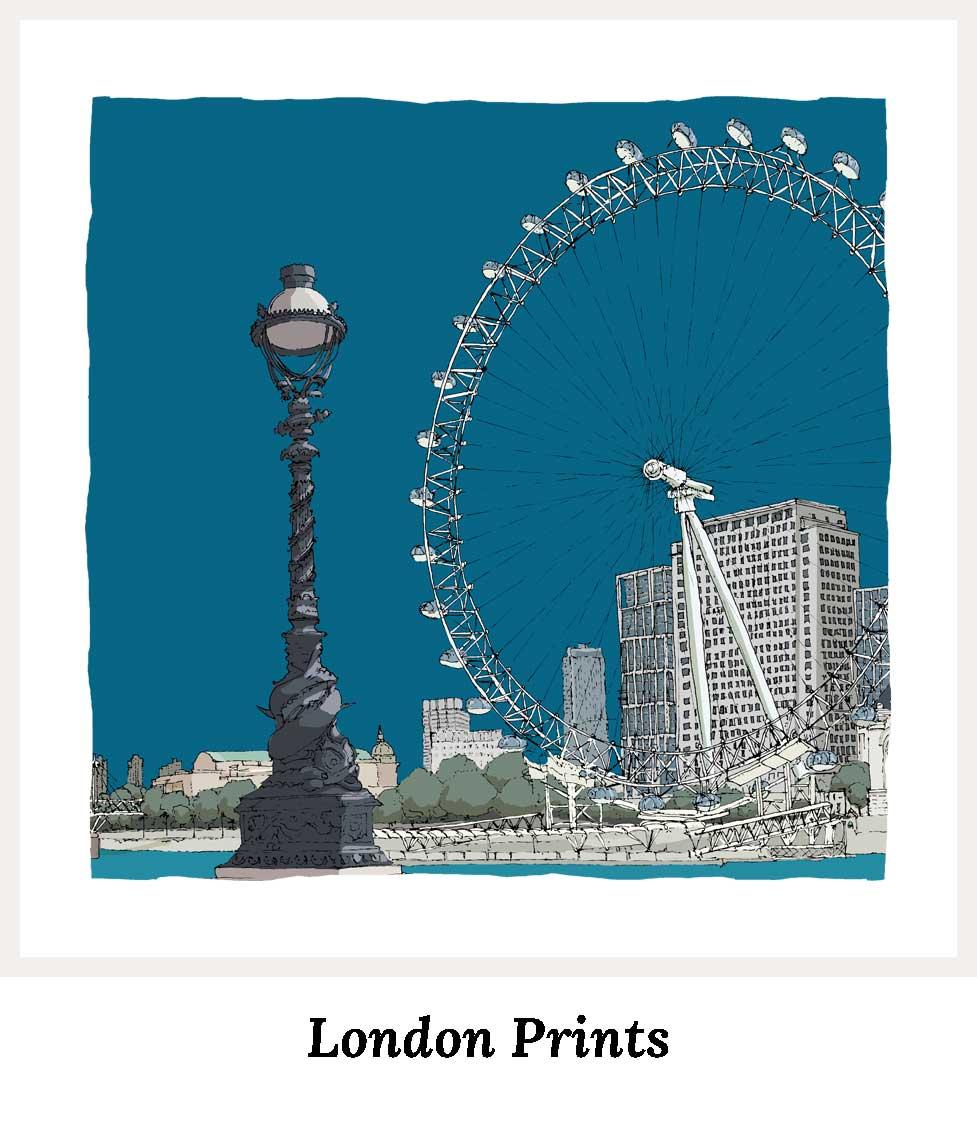 Art Prints by artist alej ez. Series London
