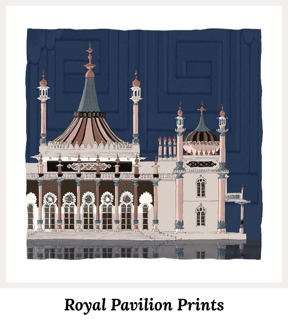 Art Prints by artist alej ez. Series Brighton Royal Pavilion