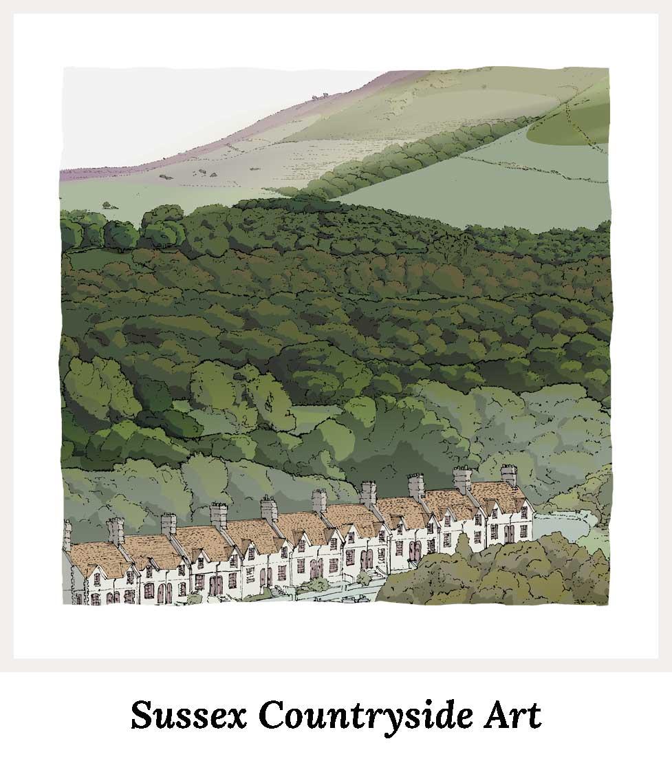 Art prints by artist alej ez. Series Sussex Art