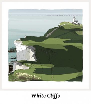 Art Prints by artist alej ez. Series White Cliffs