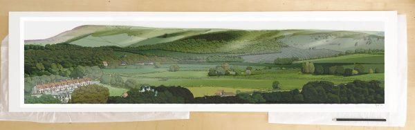 Fine art print by UK artist alej ez titled Firle from Glynde
