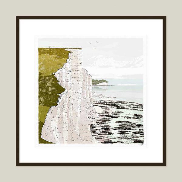 Framed art print Seven Sisters Cliffs Walk Brass Point Summer