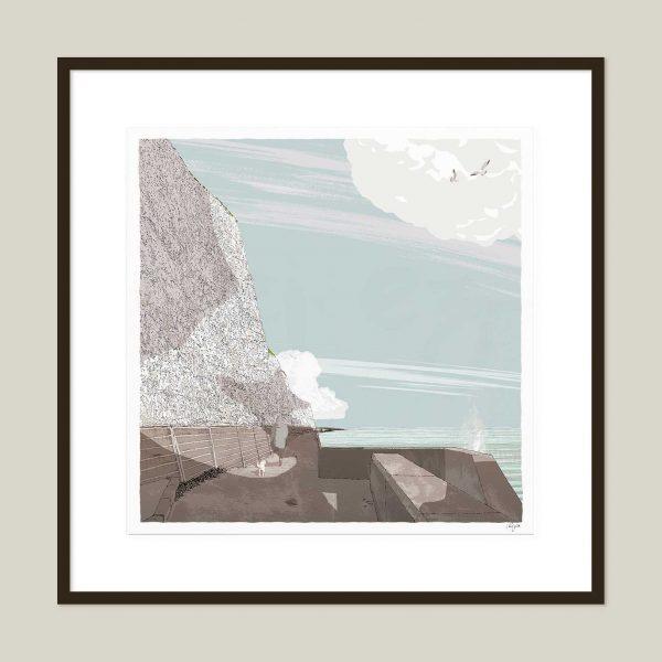 Framed art print Brighton Undercliff WalkSummer