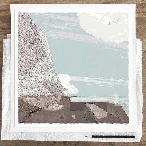 Limited edition art print by artist alej ez titled Brighton Undercliff WalkSummer