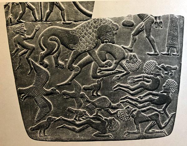 Battlefield Palete Nagada II Egypt